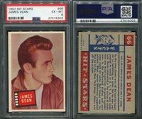 1957 TOPPS HIT STARS #66 JAMES DEAN PSA 6 (8303)