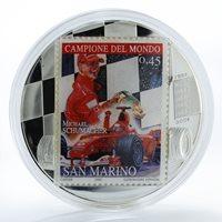 Congo 10 francs Michael Schumacher San Marino silver 2 oz coin 2007