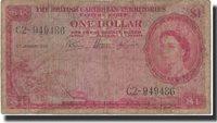 1 Dollar British Caribbean Territories Banknote, 1953-01-05, Km:7a