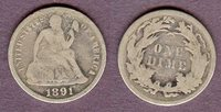 Ten Cents 1891 10c