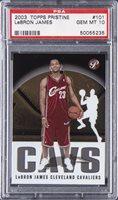 2003 Topps Pristine Basketball #101 Lebron James Rookie Card - PSA 10 GEM MINT