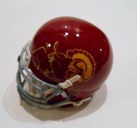 Matt Leinart Signed USC Trojans Mini Helmet w/COA Heisman Trophy Winner