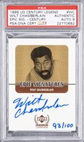 "1999/00 UD Century Legends ""Epic Signatures"" #WC Wilt Chamberlain Signed Card (#093/100) – PSA/DNA 9 Signature!"