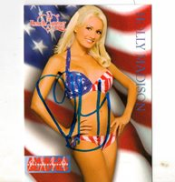 Holly Madison Hand Signed Card
