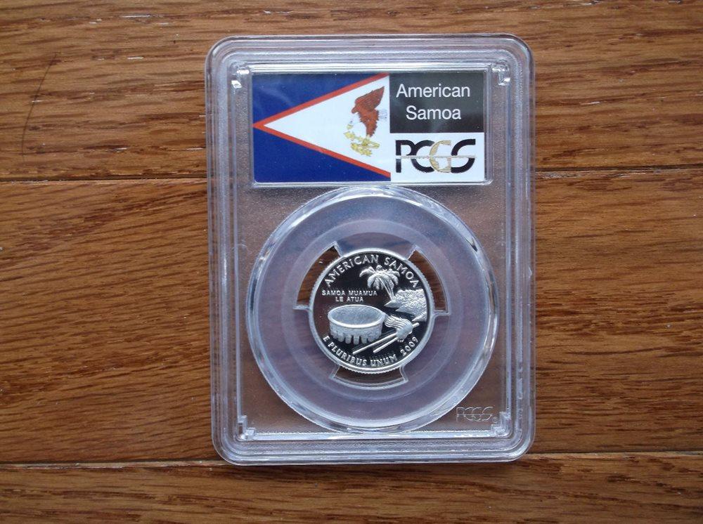 2009-S American Samoa Clad  Proof  Quarter PCGS PR69DCAM