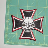Embroidered Patch - Cross with Skull