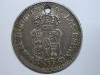 1834 SANTIAGO DE LAS VEGAS SIZE 2 REAL ELISABETH II MEDALL SPAIN