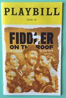 Playbill Fiddler on the Roof In Yiddish Steven Skybell Jackie Hoffman Off Broad