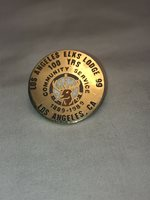 Los Angeles Calif. Elks Lodge #99 Pin. 100 Years Of Community Service 1889-1989.