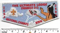 2004 2006 National Champs Owaneco 313 Special Flap