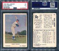 1960 BELL BRAND DODGERS #2 DUKE SNIDER DODGERS PSA 3 (9691)