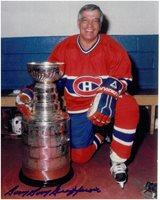"Bernie ""Boom-Boom"" Geoffrion Autographed Montreal Canadiens 8x10 Photo #2"
