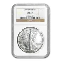 OUT OF STOCK - 1990 $1 SILVER EAGLE - NGC MS 69