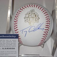 TERRY COLLINS (NY Mets) Signed Official 2015 WORLD SERIES Baseball w/ PSA COA