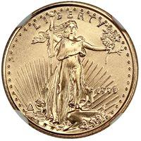 1999 Gold Eagle $5 NGC MS70