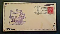 1933 USS Dorsey Merry Christmas Santa Claus Illustrated Naval Cover