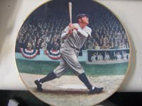 1992 DELPHI BABE RUTH THE CALLED SHOT PLATE W/COA