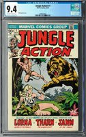 Jungle Action #1 CGC 9.4 (Oct 1972, Marvel) 1st issue, feat. Lorna, Tharn, Jann