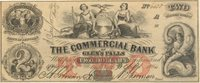 Glen's Falls Commercial 1864 $2 C-850 Unl 940-C8b -- A bright, clean counterfeit with small margins & good centering a choice note this nice with red TWO overprint XF+