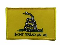 White Snake Gadsden Don't Tread On Me Flag Iron On Patch