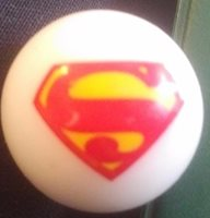 """SUPERMAN ⅞"""" MARBLE WITH CHEST EMBLEM"""