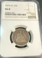 1876-CC Liberty Seated Quarter NGC VG8 Great for Grade Best Price on Ebay CHN