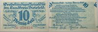 10 goldpfennig 28 November 1923 Das Papiernotgeld from Westfalen Landkreis Bielefeld