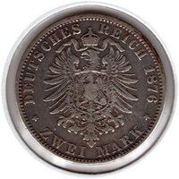 1876-A German 2 Mark1876-A German 2 Mark