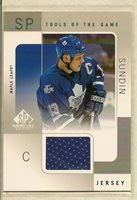 2000-01 Upper Deck SP Game Used Tools of the Game MATS SUNDIN Game-Used Jersey!