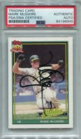 Mark McGwire PSA/DNA Certified Authentic Autograph - 1991 Topps