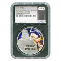 Certified Star Wars 2016 Capt. Phasma Colorized PF70 Ultra Cameo Black Core NGC