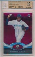 2011 Bowman Platinum Ruby Michael Pineda Rookie RC BGS 10 POP 1 Yankees Mariners
