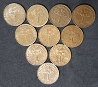Malaysia 1 Cent coins (1995-2006), set of 10pcs, (plus FREE 1 coin) #D081