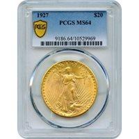 1927 $20 Saint Gaudens Double Eagle PCGS MS64
