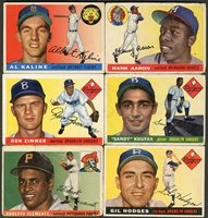 Lot # 338: 1955 Topps Baseball Complete Set (206) with SGC Graded