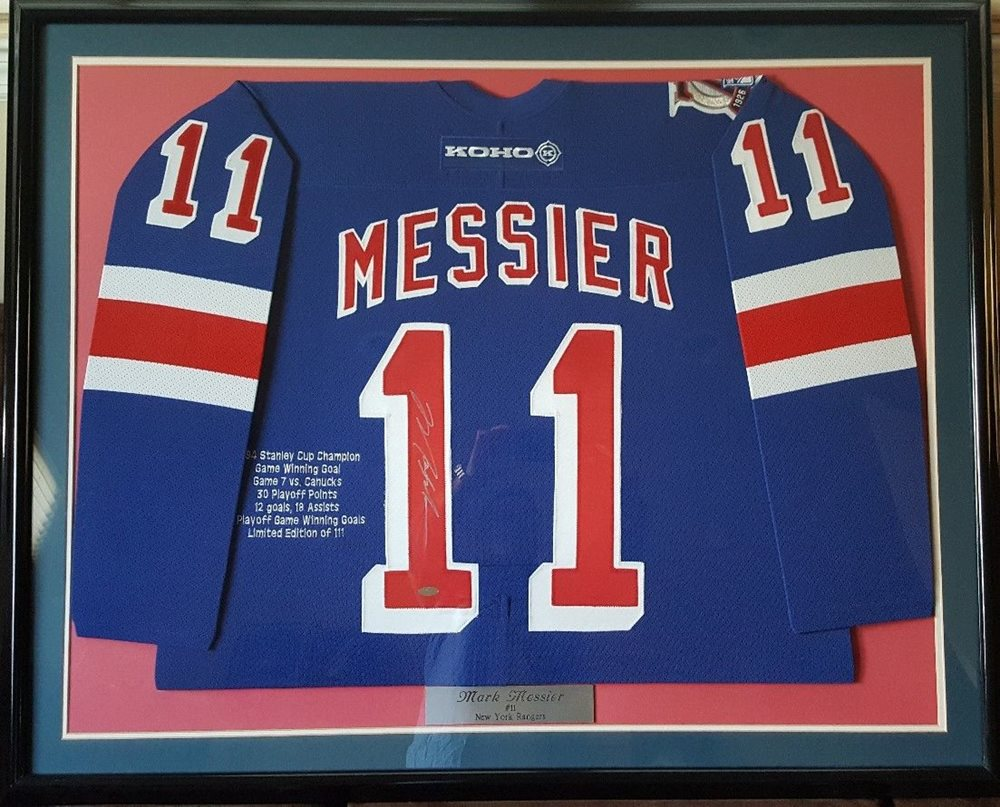 more photos 2cc93 153ff Mark Messier Autographed Rangers Jersey from Steiner LTD ED of only 111