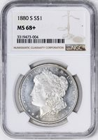 1880-S MORGAN S$1 MS68+
