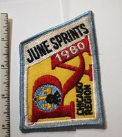 1980 Sports Car Club of America Vintage SCCA June Sprints Racing Patch Orig,