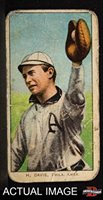 1909 T206 H Harry Davis Philadelphia Athletics (Baseball Card) (Has H. Davis On Front) Dean's Cards 1.5 - FAIR