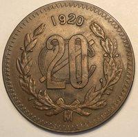 Mexico 20 Centavos. 1920. KM 437. Scarce!