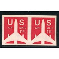 US C082a Airmail XF NH Imperf Pair