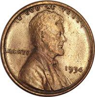 1934 Wheat Cent UNC