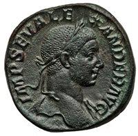 Severus Alexander(AD 222-235) Æ sestertius Rome AD 232 RIC IV 525 NGC XF 5/5-3/5