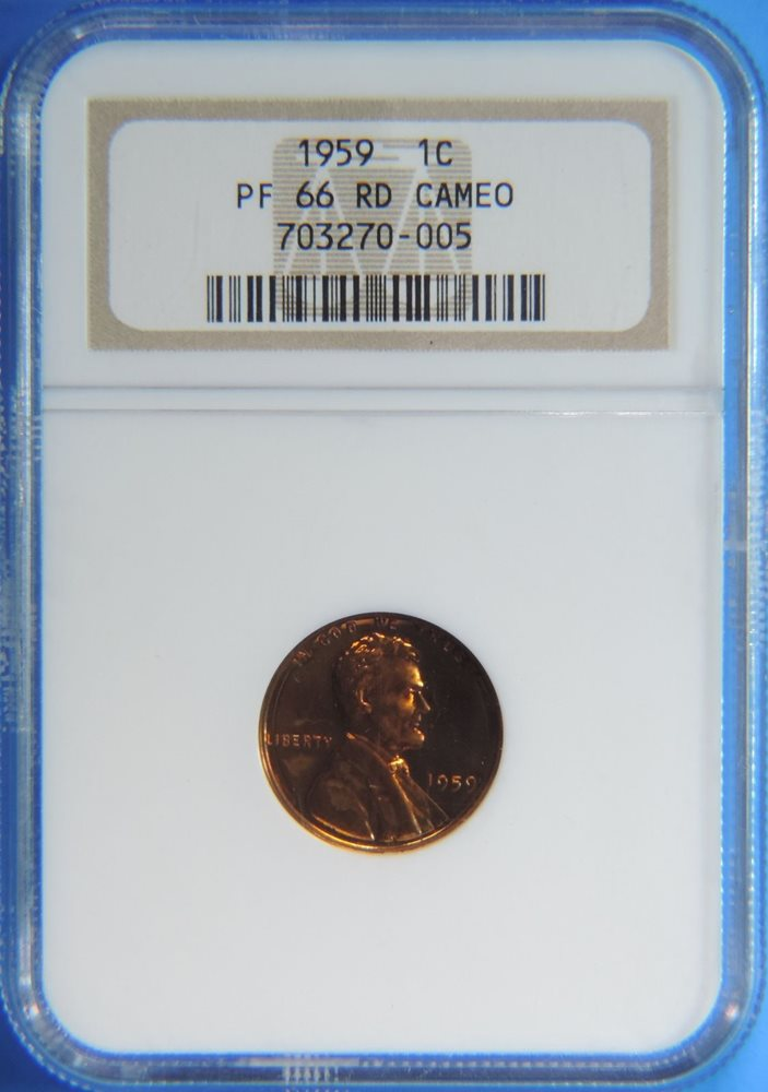 1959 1C NGC PF 68 RD LINCOLN MEMORIAL CENT PROOF GEM PR RED PENNY
