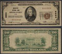 Bridgeport OH $20 1929 T-1 National Bank Note Ch #6624 Bridgeport NB Very Fine+