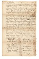 Fourteen White Witnesses Sign An Affidavit Affirming That A Negro Mans Death Was By Visitation From GodManuscript Document Signed by fourteen witness.