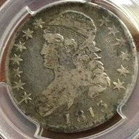 1813 Bust Half PCGS F12 Neat Die Clash Price Reduced CHN