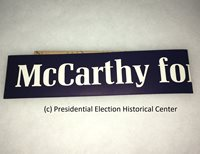 McCarthy for President Bumper Sticker that measures 2 1/2″ X 20″