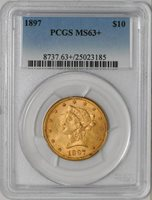 1897 $10 Gold Liberty #934719-11 MS63+ PCGS