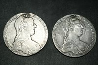 Lot Sale! 2 Authentic Vintage 1780 M Theresia D.G. Austrian Silver Coin
